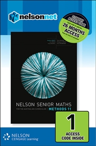 Nelson Senior Maths Methods 11 for the Australian Curriculum (1 Access Code Card) - 9780170254878