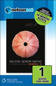 Nelson Senior Maths General 12 Student (1 Access Code Card) - 9780170254915