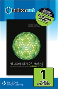 Nelson Senior Maths Specialist 12 for the Australian Curriculum (1 Access Code Card) - 9780170254953