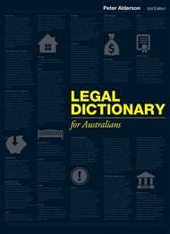 Legal Dictionary for Australians - 9780170255110