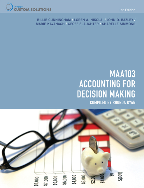 CP0882 MAA103 - Accounting for Decision Making - 9780170257459