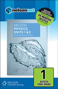 Nelson Physics Units 1 & 2 for the Australian Curriculum (1 Access Code Card) - 9780170259323