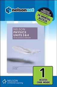 Nelson Physics Units 3 & 4 for the Australian Curriculum (1 Access Code Card) - 9780170259408