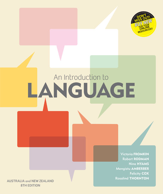 An Introduction to Language: Australia and New Zealand Edition - 9780170261197