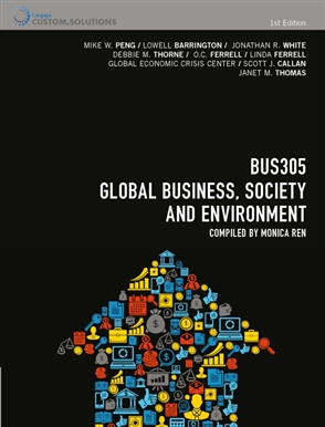 CP0903 - BUS305 Global Business, Society and Environment - 9780170262002