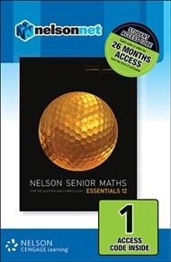 Nelson Senior Maths Essentials 12 for the Australian Curriculum (1 Access Code Card) - 9780170264136