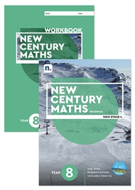 New Century Maths 8 Student Book and Workbook pack with 1 x 26 month NelsonNetBook Access code - 9780170302678