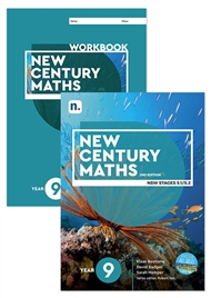 New Century Maths 9 Student Book and Workbook pack with 1 x 26 month NelsonNetBook Access Code - 9780170302685