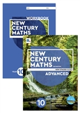 New Century Maths 10 Advanced Student Book and Workbook pack with 1 x 26 month NelsonNetBook access code