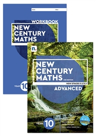 New Century Maths 10 Advanced Student Book and Workbook pack with 1 x 26 month NelsonNetBook access code - 9780170302715