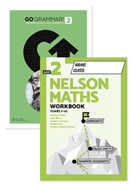 Go Grammar! and Nelson Maths 2 Student Workbook Pack - 9780170302814