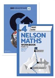 Go Grammar! and Nelson Maths 4 Student Workbook Pack - 9780170302838