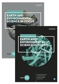 Earth and Environmental Science in Focus Year 11 & 12 Student Book Pack with 2 x 26 month NelsonNetBook access codes - 9780170302937