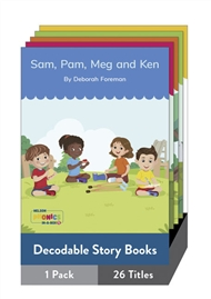 Nelson Phonics-in-a-Box 1: Decodable Story Books X 26 - 9780170332095