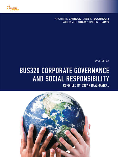 CP0987 - BUS320 Corporate Governance and Social Responsibility - 9780170355599