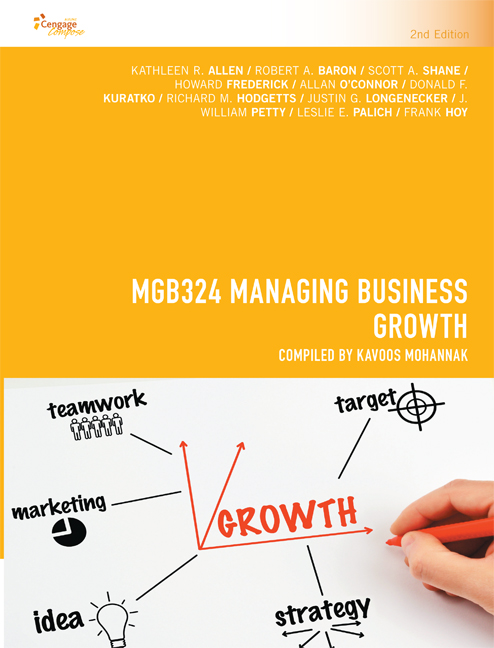 CP1002 - MGB324 Managing Business Growth - 9780170364089