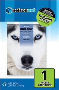 Nelson Biology VCE Units 1 & 2 (1 Access Code Card) - 9780170368667