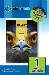 Nelson Biology VCE Units 3 & 4 (1 Access Code Card) - 9780170368711