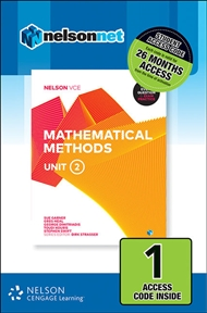 Nelson VCE Mathematical Methods Unit 2 (1 Access Code Card) - 9780170371087