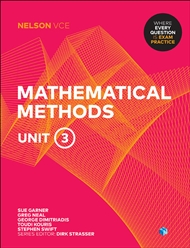 Nelson VCE Mathematical Methods Unit 3 (Student Book with 4 Access Codes) - 9780170371261