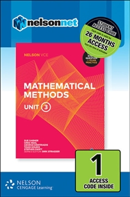 Nelson VCE Mathematical Methods Unit 3 (1 Access Code Card) - 9780170371322