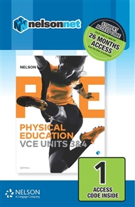 Nelson Physical Education VCE Units 3&4 (1 Access Code Card) - 9780170373913