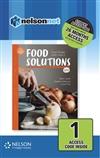 Food Solutions: Food Studies Units 1 & 2 1-code Access Card