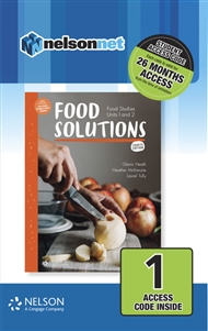 Food Solutions: Food Studies Units 1 & 2 1 access code card - 9780170378673