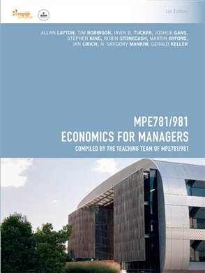 MPE781 Economics for Managers - 9780170381321