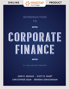 MindTap for Graham/Smart's Introduction to Corporate Finance, 2-term Instant Access - 9780170389679
