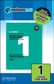 Sadler Maths Applications Unit 1 – Revised Format – 1 Access Code - 9780170390255