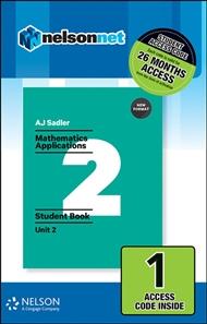 Sadler Maths Applications Unit 2 – Revised Format – 1 Access Code - 9780170390323