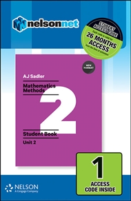 Sadler Maths Methods Unit 2 – Revised Format – 1 Access Code - 9780170390460