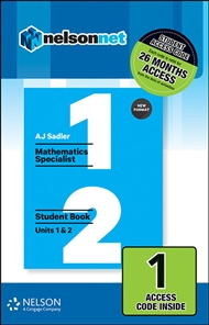 Sadler Maths Specialist Units 1 & 2 – Revised Format – 1 Access Code - 9780170390538