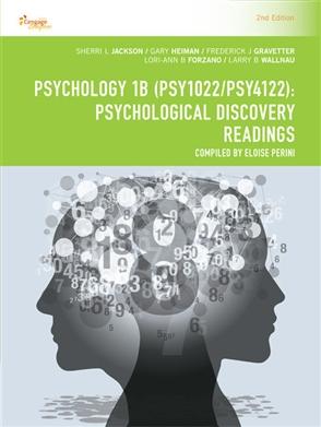 Psychology 1B (PSY1022 /PSY4122): Psychological Discovery Readings - 9780170392334