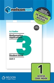 Sadler Mathematics Applications Unit 3 Revised (1 Access Code Card) - 9780170395052