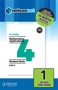 Sadler Mathematics Applications Unit 4 Revised – 1 Access Code - 9780170395120