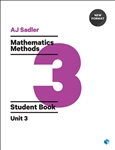 Sadler Maths Methods Unit 3 – Revised Format with 2 access codes