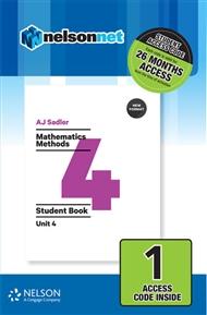 Sadler Mathematics Methods Unit 4 Revised – 1 Access Code - 9780170395267
