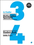 Sadler Maths Specialist Units 3 & 4 – Revised Format with 2 Access Codes