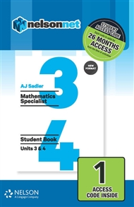 Sadler Maths Specialist Units 3 & 4 Revised (1 Access Code Card) - 9780170395335