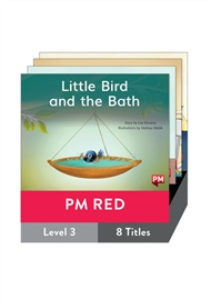 PM Red Guided Readers Fiction Level 3 Pack x 8 - 9780170398282