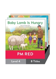 PM Red Guided Readers Fiction Level 4 Pack x 8 - 9780170398299