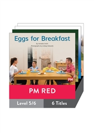 PM Red Guided Readers Non Fiction Level 5/6 Pack x 6 - 9780170398312