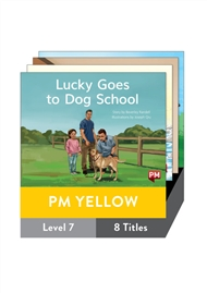 PM Yellow Guided Readers Fiction Level 7 Pack x 8 - 9780170398336