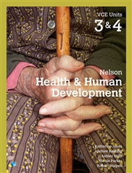 Nelson Health & Human Development VCE Units 3 & 4 Student Book with 4 Access Codes - 9780170401807