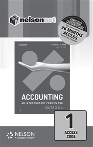 Accounting: An Introductory Framework Units 3 & 4 (1 Access Code Card) - 9780170401951