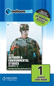Nelson Outdoor & Environmental Studies VCE Units 1 – 4 (1 Access Code Card) - 9780170402262