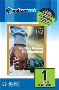 Nelson Health & Human Development VCE Units 1 & 2 (1 Access Code Card) - 9780170403207