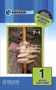 Nelson Health & Human Development VCE Units 3 & 4 (1 Access Code Card) - 9780170403269